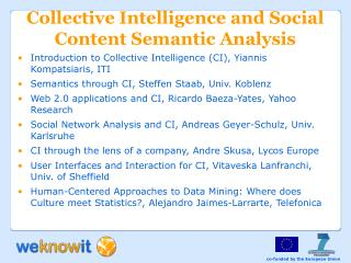 Collective Intelligence and Social Content Semantic Analysis