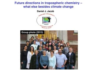 Future directions in tropospheric chemistry  –  what  else besides climate change