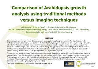 Comparison of Arabidopsis growth analysis using traditional methods versus imaging techniques