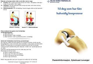 Pasientinformasjon, Sykehuset Levanger