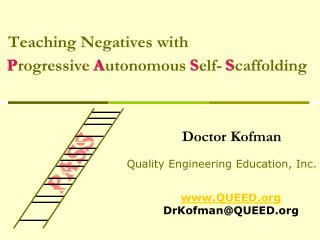Teaching Negatives with  Progressive Autonomous Self- Scaffolding