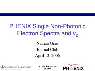 PHENIX Single Non-Photonic Electron Spectra and v 2