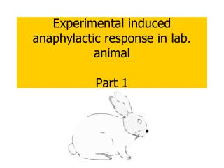 Experimental induced anaphylactic response in lab. animal Part 1