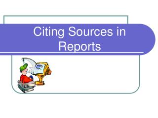 Citing Sources in Reports
