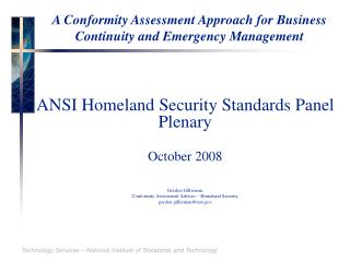 A Conformity Assessment Approach for Business Continuity and Emergency Management