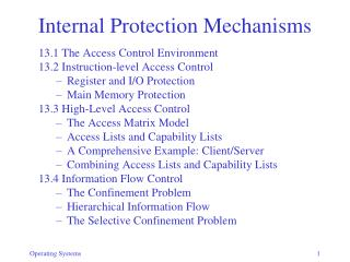 Internal Protection Mechanisms