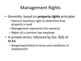 Management Rights