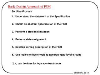 Basic Design Approach of FSM