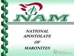 NATIONAL APOSTOLATE OF MARONITES