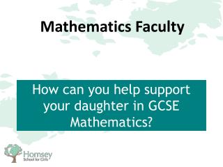 How can you help support your daughter in GCSE Mathematics?