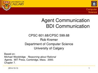 Agent Communication BDI Communication