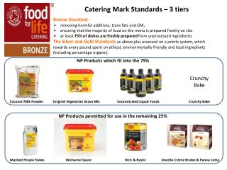 Catering Mark Standards – 3  tiers