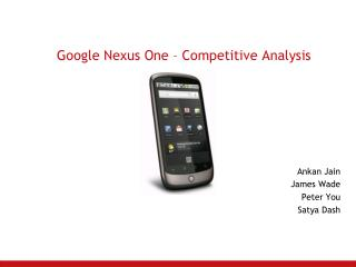 Google Nexus One – Competitive Analysis