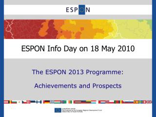 ESPON Info Day on 18 May 2010