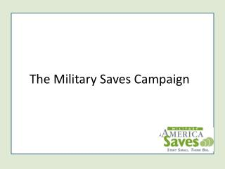 The Military Saves Campaign