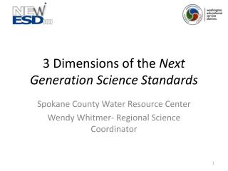 3 Dimensions of the  Next Generation Science Standards