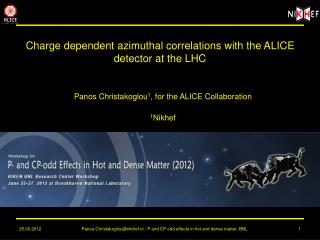 Charge dependent azimuthal correlations with the ALICE detector at the LHC