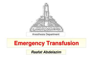 Emergency Transfusion