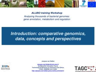 Introduction: comparative genomics,  data, concepts and perspectives