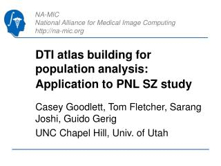 DTI atlas building for population analysis: Application to PNL SZ study