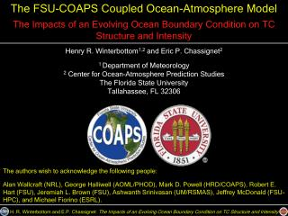 The FSU-COAPS Coupled Ocean-Atmosphere Model