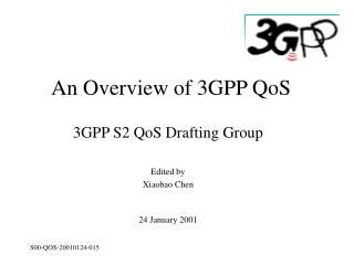 An Overview of 3GPP QoS