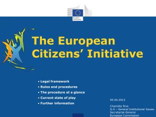 The European Citizens' Initiative