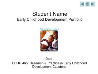 Student Name Early Childhood Development Portfolio