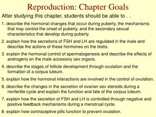Reproduction: Chapter Goals