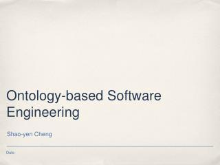 Ontology-based Software Engineering