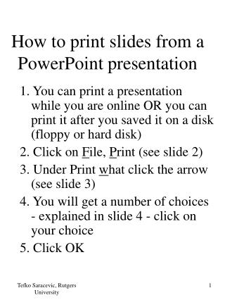 How to print slides from a PowerPoint presentation
