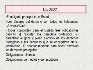 Los DESC