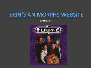 Erin's  animorphs  website