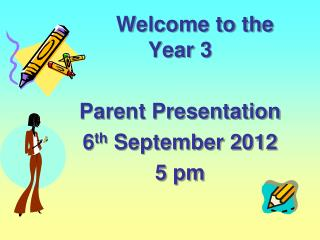 Welcome to the Year 3  Parent Presentation 6 th  September 2012 5 pm