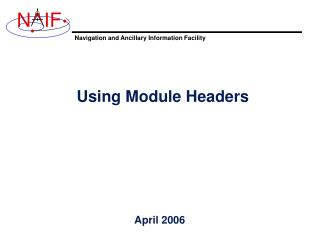 Using Module Headers