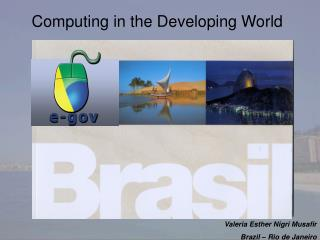 Computing in the Developing World