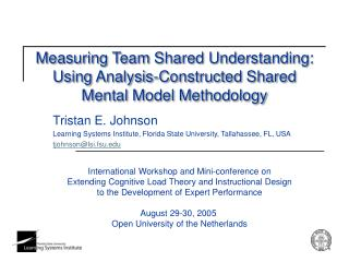 Measuring Team Shared Understanding: Using Analysis-Constructed Shared Mental Model Methodology