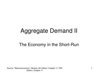 Aggregate Demand II