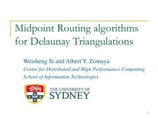 Midpoint Routing algorithms for Delaunay Triangulations