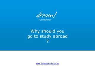 Why should you  go to study abroad  ?