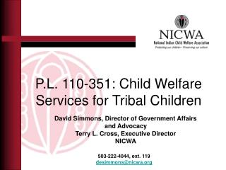 P.L. 110-351: Child Welfare Services for Tribal Children