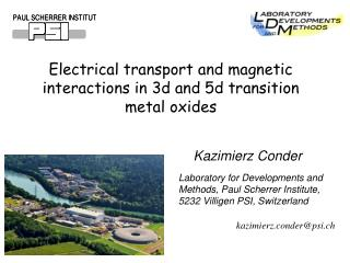 Electrical transport and magnetic interactions in 3d and 5d transition metal  oxides