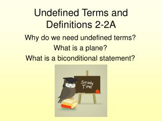 Undefined Terms and Definitions 2-2A