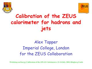 Calibration of the ZEUS calorimeter for hadrons and jets
