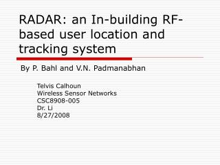 RADAR: an In-building RF-based user location and tracking system