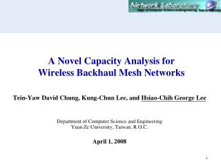 A Novel Capacity Analysis for  Wireless Backhaul Mesh Networks
