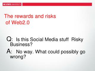 The rewards and risks  of Web2.0