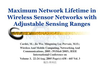 Maximum Network Lifetime in Wireless Sensor Networks with Adjustable Sensing Ranges
