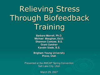 Relieving Stress Through Biofeedback Training