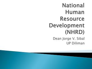 National  Human  Resource  Development (NHRD)